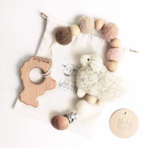bárányos cumilánc fa bárányos rágókával