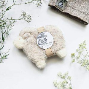 illatmentes nemezelt gyapjú bárányos szappan