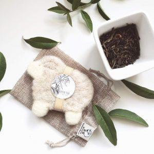 nemezelt bárány alakú szappan zöld tea illattal