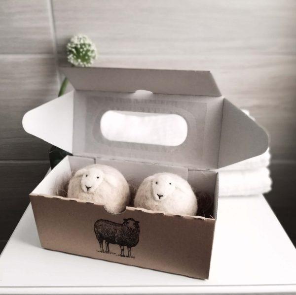 gyapjú szárító labdák csomagolása