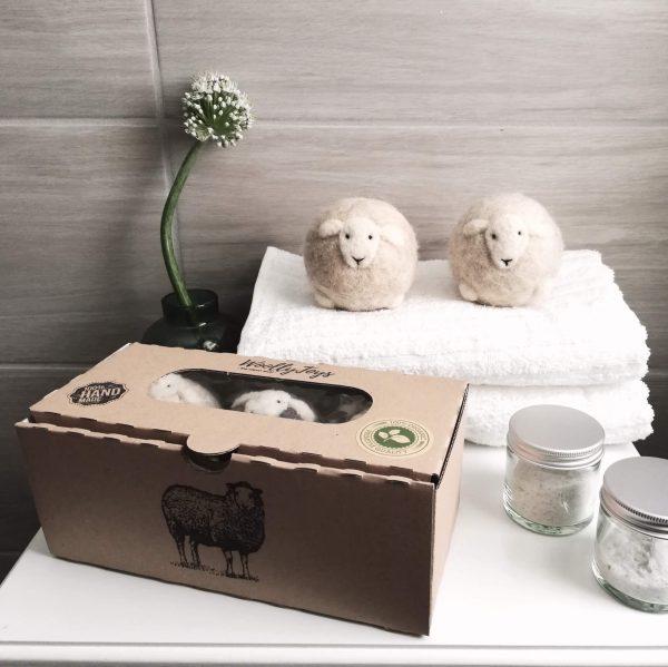 gyapjú szárító labdák dobozban