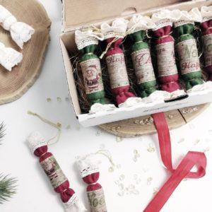 gyapjúfilc szaloncukor karácsonyfadísz