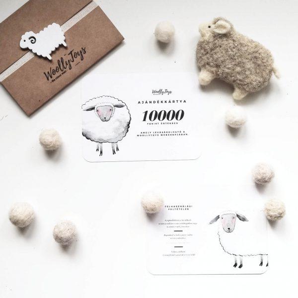 woollytoys ajándékkártya több cimletben