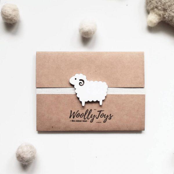 woollytoys ajándékkártya fa báránnyal