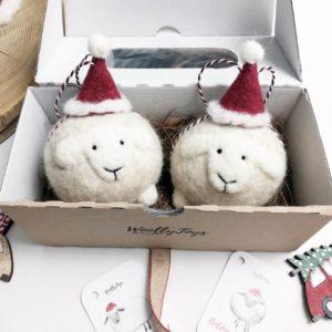 gyapjú szárítólabda és karácsonyfadísz